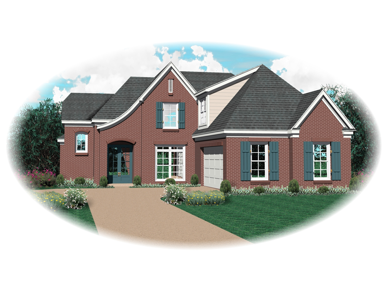 European House Plan Front of Home - 087D-0648 | House Plans and More
