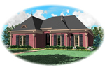 European House Plan Front of Home - 087D-0656 | House Plans and More