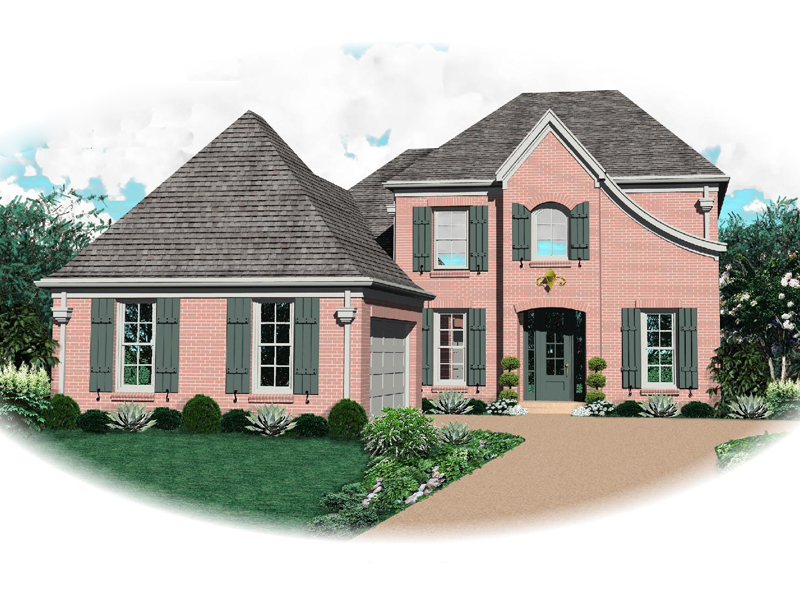 Country French Home Plan Front of Home - 087D-0657 | House Plans and More