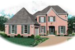 European House Plan Front of Home - 087D-0657 | House Plans and More