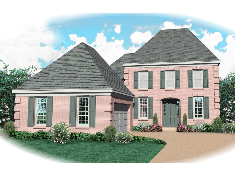 European House Plan Front of Home - 087D-0658 | House Plans and More