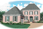 Georgian House Plan Front of Home - 087D-0658 | House Plans and More