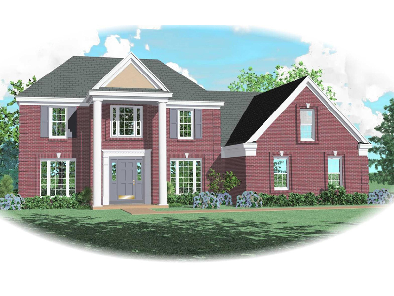 Plantation House Plan Front of Home - 087D-0659 | House Plans and More