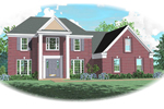 European House Plan Front of Home - 087D-0659 | House Plans and More