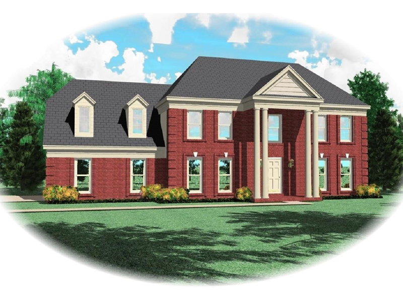 Plantation House Plan Front of Home - 087D-0663 | House Plans and More