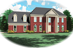 Georgian House Plan Front of Home - 087D-0663 | House Plans and More