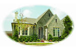 European House Plan Front of Home - 087D-0664 | House Plans and More