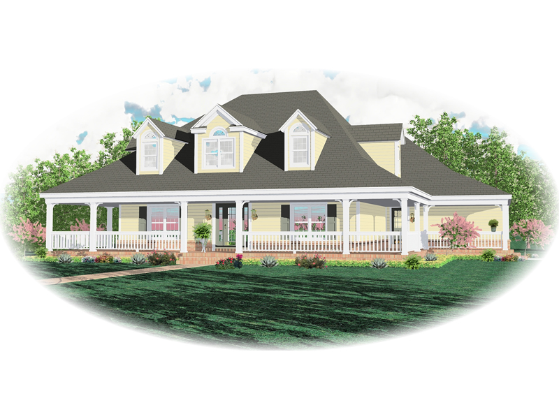 Colonial House Plan Front of Home - 087D-0665 | House Plans and More