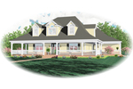 Farmhouse Plan Front of Home - 087D-0665 | House Plans and More