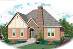 English Tudor House Plan Front of Home - 087D-0668 | House Plans and More