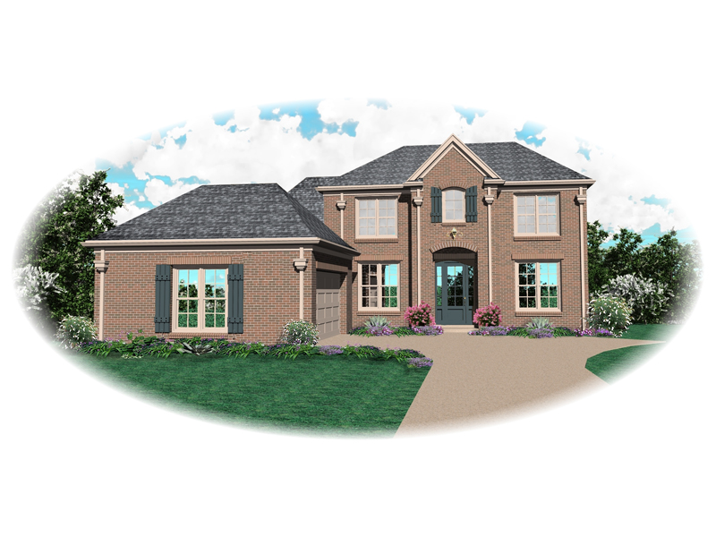 European House Plan Front of Home - 087D-0670 | House Plans and More