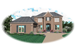 Colonial House Plan Front of Home - 087D-0670 | House Plans and More