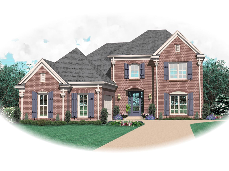 European House Plan Front of Home - 087D-0676 | House Plans and More