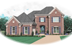 Greek Revival Home Plan Front of Home - 087D-0676 | House Plans and More