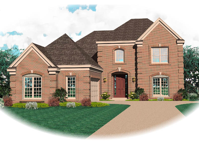 Country House Plan Front of Home - 087D-0677 | House Plans and More