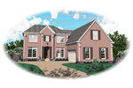 Colonial House Plan Front of Home - 087D-0679 | House Plans and More