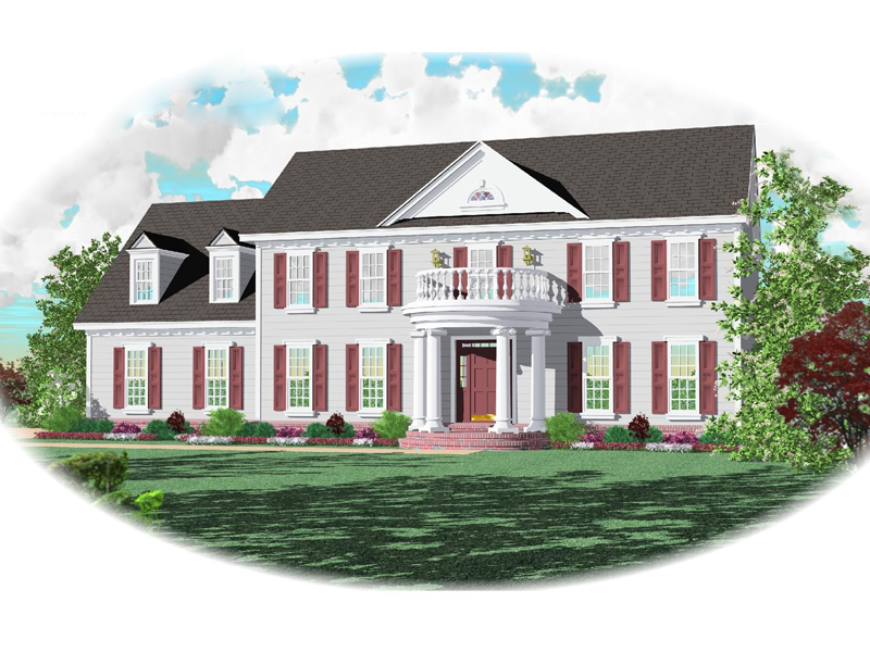 Plantation House Plan Front of Home - 087D-0685 | House Plans and More