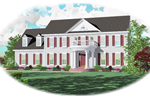 Southern Plantation Plan Front of Home - 087D-0685 | House Plans and More