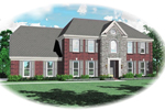 Colonial Floor Plan Front of Home - 087D-0688 | House Plans and More