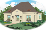 European House Plan Front of Home - 087D-0692 | House Plans and More
