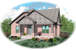 European House Plan Front of Home - 087D-0693 | House Plans and More