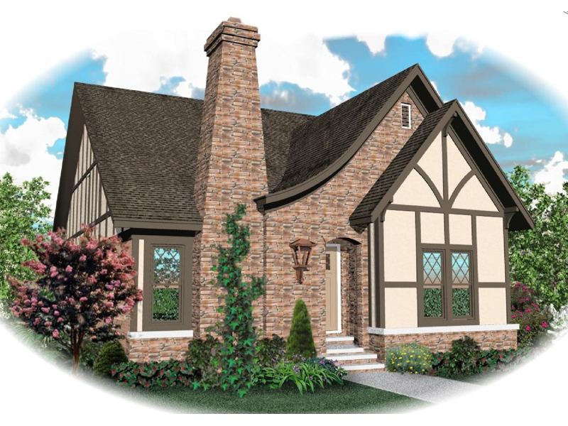 Tudor House Plan Front of Home - 087D-0699 | House Plans and More