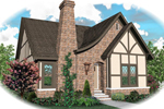English Tudor House Plan Front of Home - 087D-0699 | House Plans and More