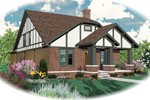 Tudor Narrow Lot Home Features English Cottage Design