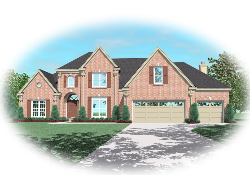European House Plan Front of Home - 087D-0742 | House Plans and More