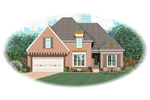 European House Plan Front of Home - 087D-0746 | House Plans and More