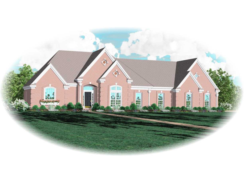 Colonial House Plan Front of Home - 087D-0748 | House Plans and More