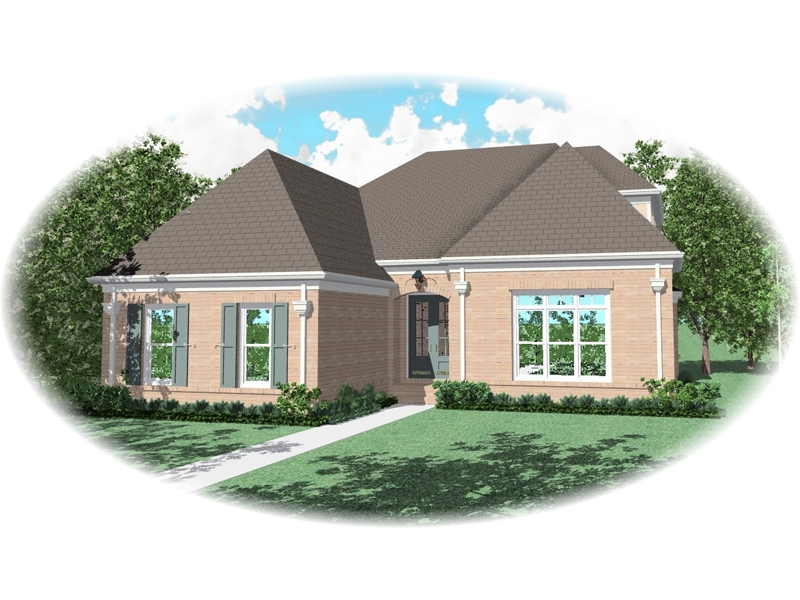 Traditional House Plan Front of Home - 087D-0756 | House Plans and More
