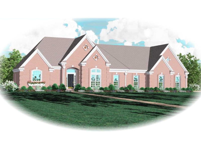 Traditional House Plan Front of Home - 087D-0757 | House Plans and More