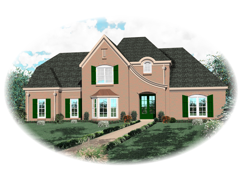 European House Plan Front of Home - 087D-0761 | House Plans and More