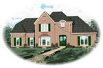 Country French Home Plan Front of Home - 087D-0761 | House Plans and More