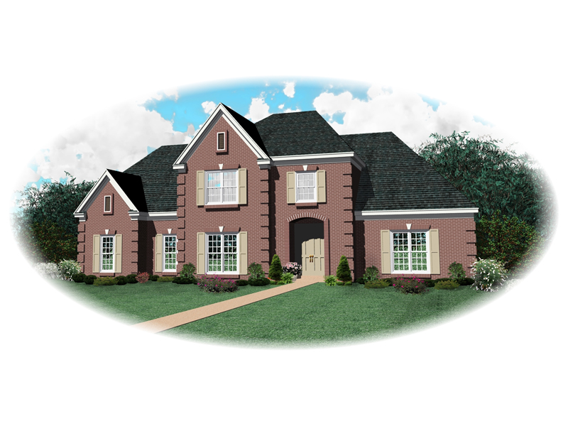 Colonial Floor Plan Front of Home - 087D-0762 | House Plans and More