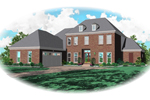Georgian House Plan Front of Home - 087D-0764 | House Plans and More