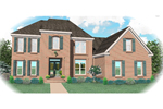 European House Plan Front of Home - 087D-0766 | House Plans and More