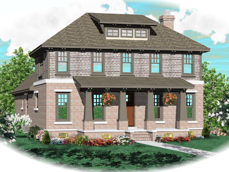 Country House Plan Front of Home - 087D-0767 | House Plans and More