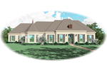 Southern Plantation Plan Front of Home - 087D-0778 | House Plans and More