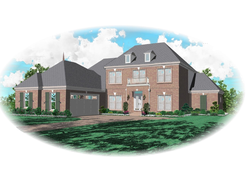 European House Plan Front of Home - 087D-0779 | House Plans and More