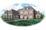 Southern Plantation Plan Front of Home - 087D-0779 | House Plans and More