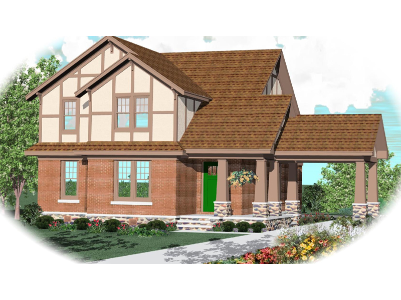 Traditional House Plan Front of Home - 087D-0783 | House Plans and More