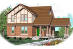 Arts and Crafts House Plan Front of Home - 087D-0783 | House Plans and More