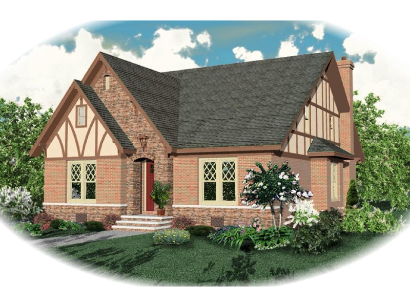 Tudor House Plan Front of Home - 087D-0789 | House Plans and More