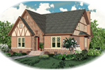 English Tudor House Plan Front of Home - 087D-0789 | House Plans and More