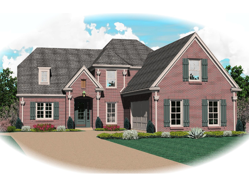 Country French Home Plan Front of Home - 087D-0793 | House Plans and More