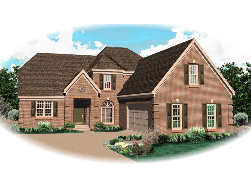 Country French House Plan Front of Home - 087D-0794 | House Plans and More