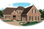 Country French Home Plan Front of Home - 087D-0794 | House Plans and More