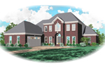 European House Plan Front of Home - 087D-0798 | House Plans and More